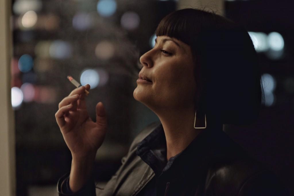 Candice smoking