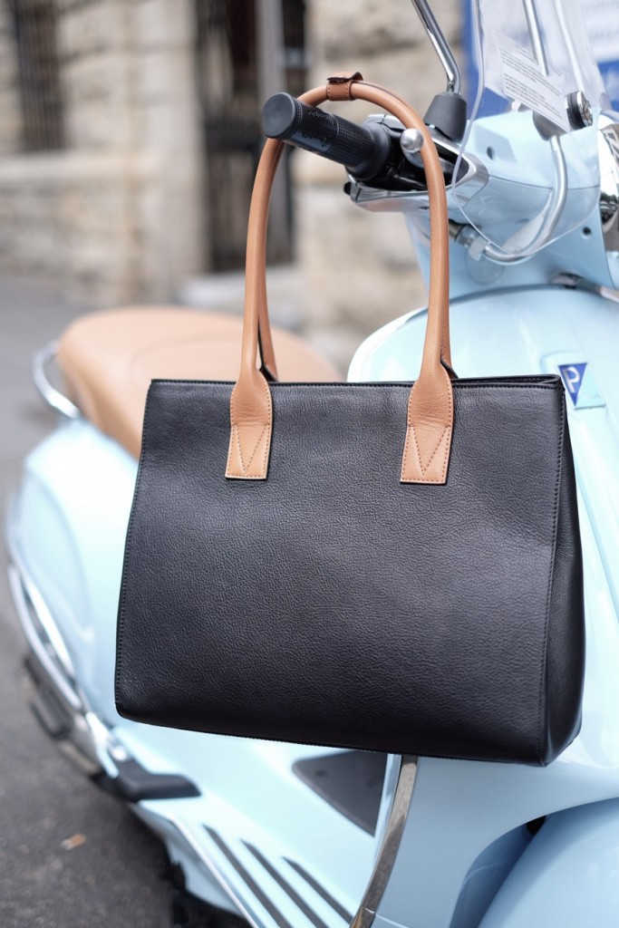 brown strap vespa