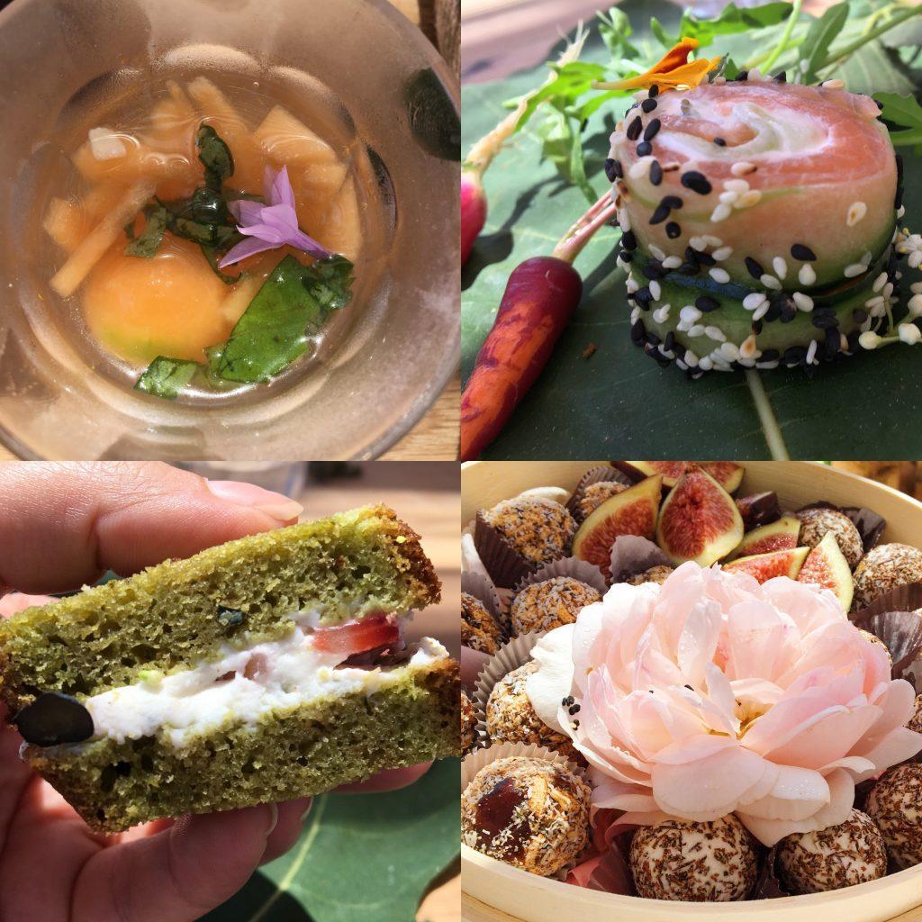 Healing garden food