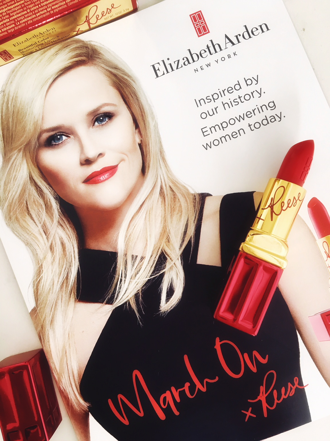 Elizabeth Arden Reese Witherspoon March On For Women In My Bag